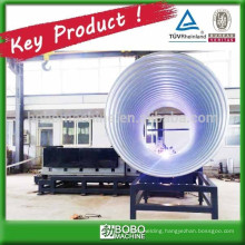Metallic spiral corrugated drain conduit machine