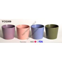 Conjunto de 4 pote de flores decorativas