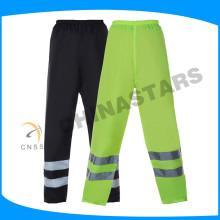 Muy bienvenida unisex impermeable fluo amarillo tráfico seguridad pantalones
