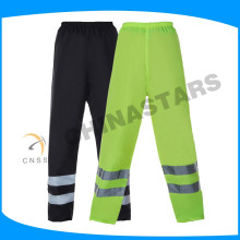 highly welcomed unisex waterproof fluo yellow traffic safety pants