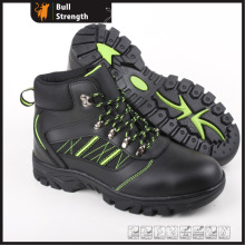 Smooth Buffalo Leather with Rubber Outsole Ankle Safety Shoe (SN5295)