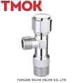chromed plated brass toilet flush angle valve