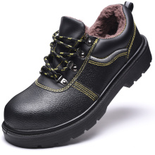 Winter Type PU upper artificial leather  antismash work  safety shoes