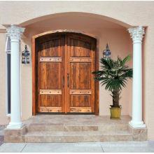 Portas de folhosa sólidas Contempory exteriores exteriores, porta de madeira