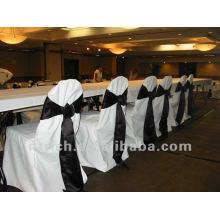 100 % de charme du housses de chaises de polyester visa pour mariage et banquet