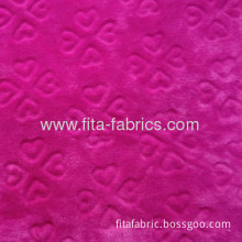 Soft Embossing or Solid Color Flannel Fabric For Blanket