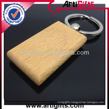 Promotional cheap custom wooden keychain