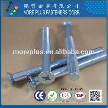 Fabricado en Taiwán Clase 4.8 ISO7046 1 M10 PHIL Driver Cabezal avellanado Cabezal de tamaño inferior Tornillo de la máquina