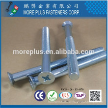 Made in Taiwan Class 4.8 ISO7046 1 M10 PHIL Driver Countersunk Head Undersized Body Machine Screw
