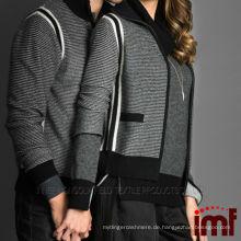 Frauen Wide Sleeve Zipper Kaschmir Strickjacke