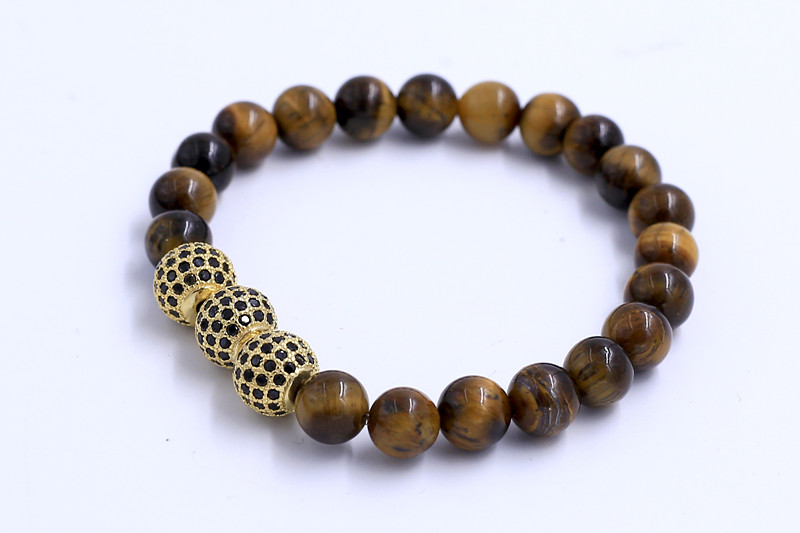 Ziron Tiger Eye Stone Beads Bracelet