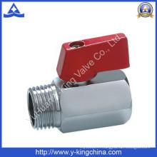 Vanne à bille en laiton mâle femelle à main en aluminium (YD-1037)