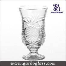 Coupe de jus de verre gravé de style français de 6 oz (GB040606BL)