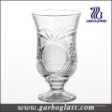 Piedra grabado Copa de vidrio de vino (GB040606BL)