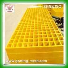 Rejilla moldeada de FRP / GRP, rejilla de la fibra de vidrio para la plataforma y la calzada