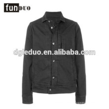 Men black short length jacket top grade long sleeve dress black jacket