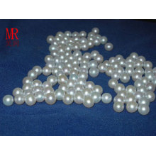 6-7mm White Round Loose Pearls No Hole