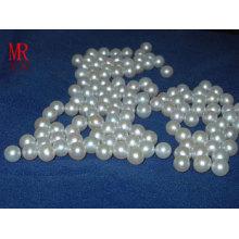 6-7mm Perlas sueltas redondas blancas sin agujero