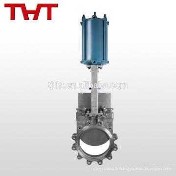 vannes à guillotine pneumatiques en acier inoxydable