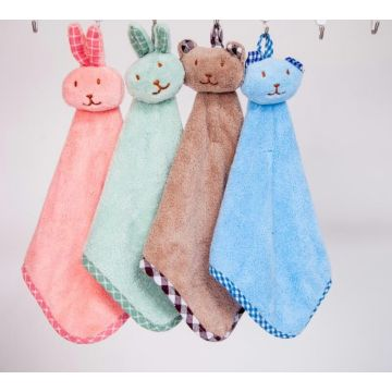 Fancy Hanging Soft Plush Serviettes de toilette