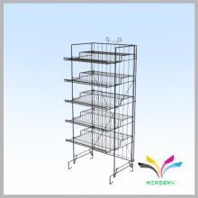 Wholesale custom supermarket retail floor standing metal fruit and vegetable display stand