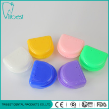 Portable Plastic Orthodontic 2-hole Retainer Box