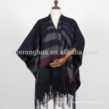 100% laine haute qualité femme cape wrap