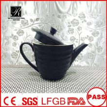 P&T porcelain factory,porcelain glazed coffee pots, black tea pots