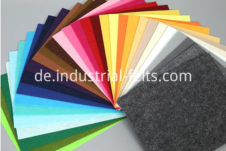 Polyester colorful felt