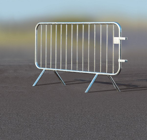 Galvanized Flat Feet Crowd Control Barrier