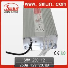 O CE impermeável RoHS do motorista do diodo emissor de luz de Smun 250W 12V aprovou