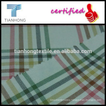 woven technic colorful stripe check pattern smooth touch 100 cotton twill yarn dyed fabric for shirt