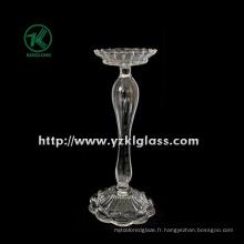 Bougeoir en verre pour la décoration de fête avec une seule poste (DIA10.5 * 24)