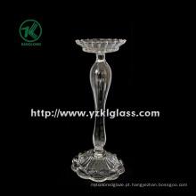 Suporte de vela de vidro para a decoração do partido com único post (DIA10.5 * 24)