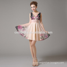 Apricot Cocktail Dresses Pretty Summer Styles New Arrival Hot Sexy Knee Length Cocktail Prom Dress