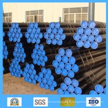 Tubería de acero al carbono sin costura negra para líquidos y petróleo