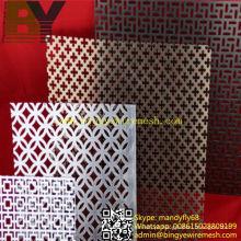Folha de metal decorativa perfurada de alumínio