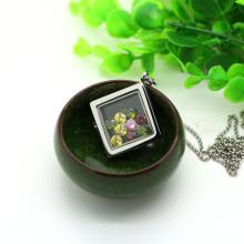 Colorful epoxy square living locket