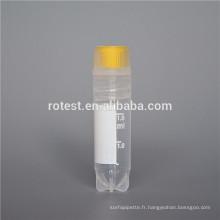 Fournitures de laboratoire Cryovial et boîte cryoviale de 1,8 ml / 2 ml
