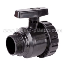 PP COMPRESSION SINGLE UNION BALL VALVE(MALE&FEMA