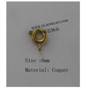 Wholesale Jewelry Round Slide Clasps Copper Jewelry Accessory