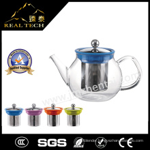 Hot Selling Christmas Gift Borosilicate Glass Tea Pot with Stainless Steel Infuser