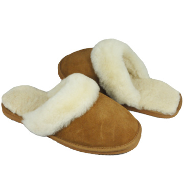 women best indoor leather sheepskin fur slippers