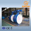carbon steel wcb dn1200 weld butterfly valve bidirectional hard seal
