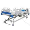 Cama eléctrica de ICU del hospital ajustable de la función de la barandilla 3 del ABS con la conexión suave