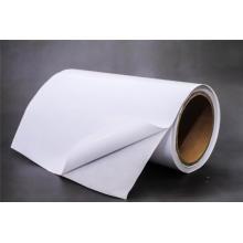 Selbstklebendes gestrichenes Gusspapier mit weißem Pergamin