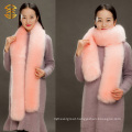 Genuine Fox Stole Lady Fashion Warm Fox Scarf Long Knitted Fox Scarf