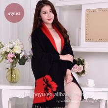 New 2017 style big flower Witner 30%Viscose,70% polyester pashmina scarf shawl with fringe