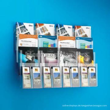 Free Design Schreibwaren Shop und Buch Shop Regale, 4-Layer Wand montiert Acryl Buch Regal