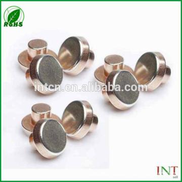 High electric performance flat copper rivets